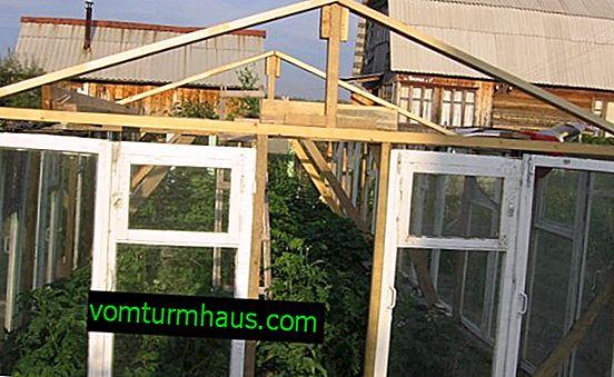Sådan bygger du et drivhus fra vinduesrammer med dine egne hænder