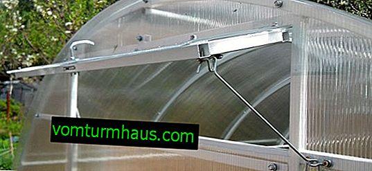 Как да направите прозорец за оранжерия от поликарбонат със собствените си ръце