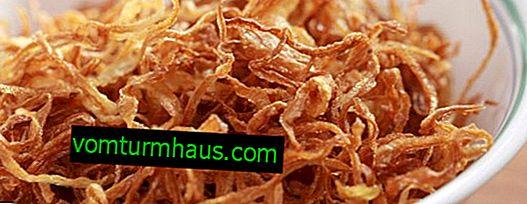 Fördelarna och skadorna av stekt lök för människokroppen