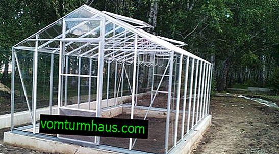 Växthus av aluminium och glas