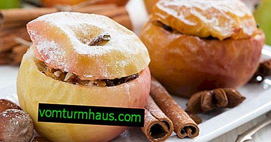 Funktioner av bakade äpplen