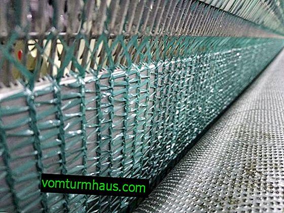 Redes de protección solar para cubrir invernaderos y toldos.