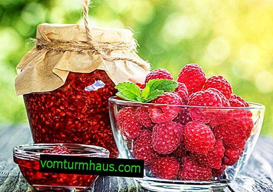 Koristi in škode malinove marmelade za telo
