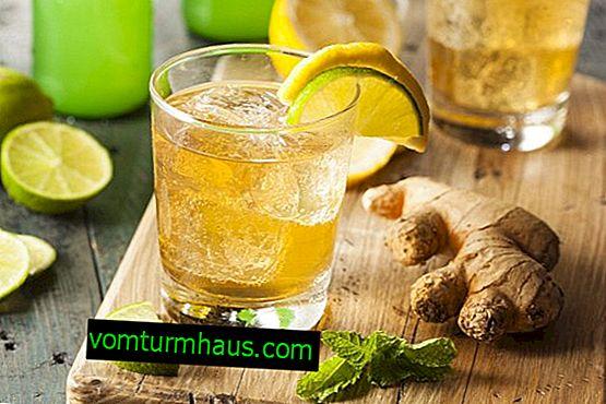 Wie man auf einem Mineralwasser mit Ingwer und Zitrone Gewicht verliert