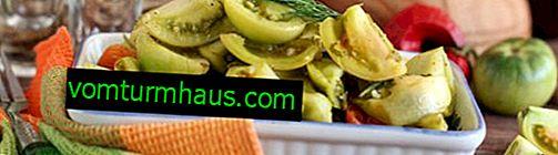 มะเขือเทศสีเขียวดองทันที: สูตรที่ดีที่สุด