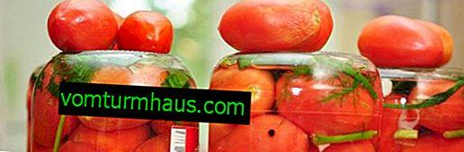 Tomates de sel pour l'hiver dans les banques